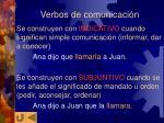 verbos de comunicaci n