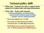 national policy shift