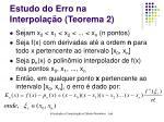 estudo do erro na interpola o teorema 227