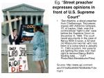 eg street preacher expresses opinions in front of u s supreme court