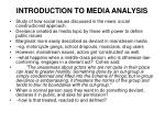 introduction to media analysis