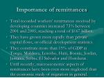 importance of remittances