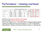 performance cleaning overhead