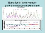 evolution of wolf number now the changes make sense