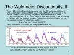 the waldmeier discontinuity iii
