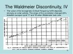 the waldmeier discontinuity iv