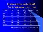 epidemiolog a de la eoaa t al de baja carga al a 10 ug l
