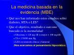 la medicina basada en la evidencia mbe6