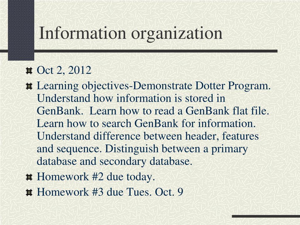 information organization l.