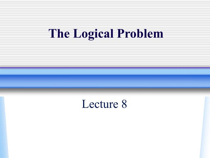 the logical problem n.