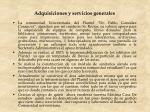 adquisiciones y servicios generales