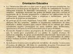 orientaci n educativa