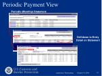 periodic payment view