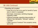 sb 1406 continued