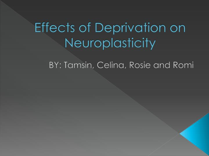 effects of deprivation on neuroplasticity n.