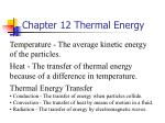 chapter 12 thermal energy2