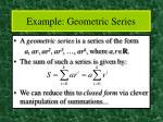 example geometric series