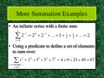 more summation examples