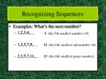 recognizing sequences5
