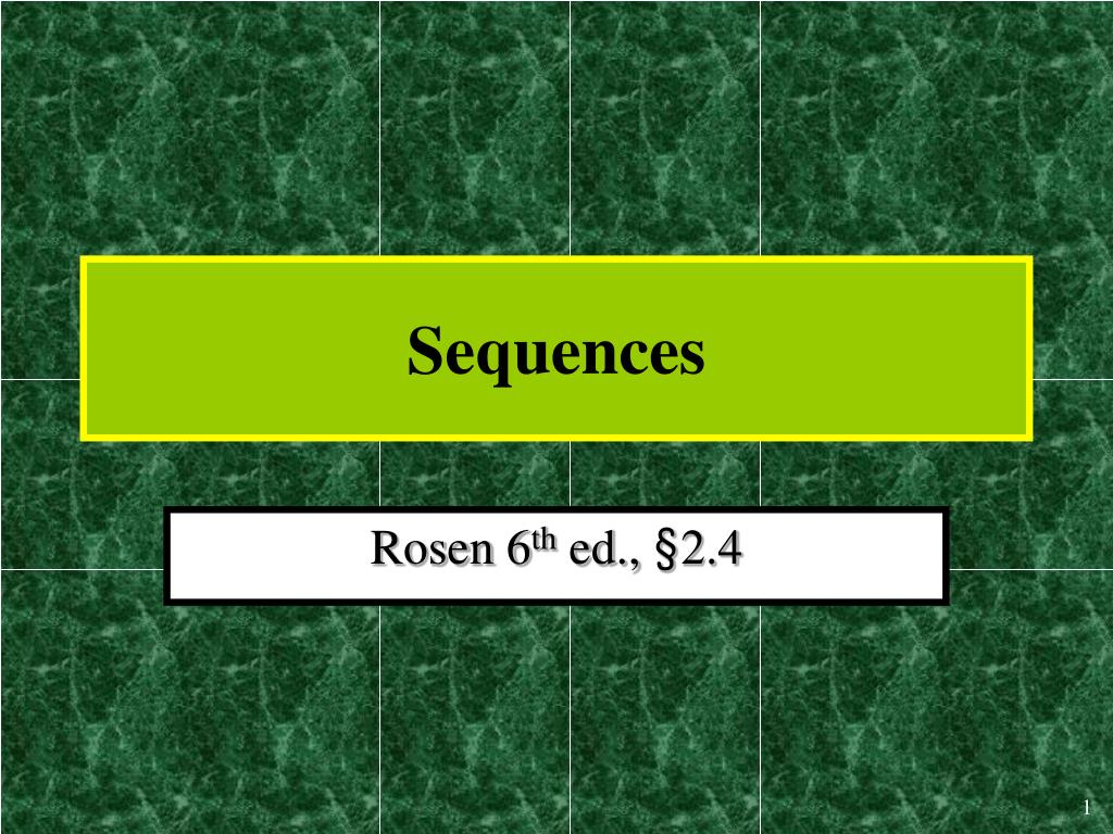 sequences l.