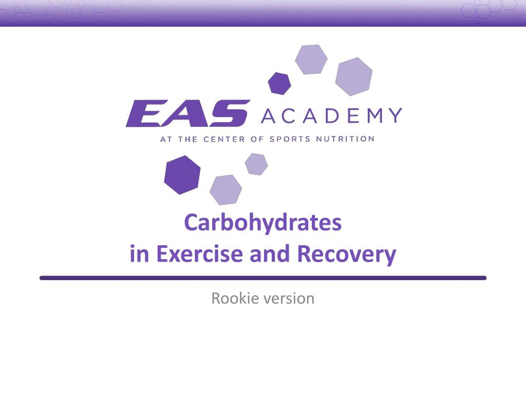 carbohydrates in exercise and recovery l.