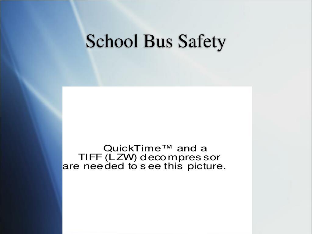 school bus safety l.