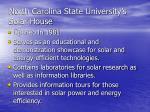 north carolina state university s solar house40