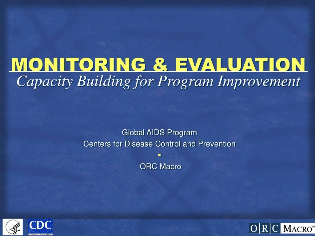 monitoring evaluation l.