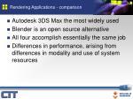 rendering applications comparison