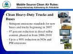 mobile source clean air rules comprehensively addressing air pollutants20