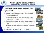 mobile source clean air rules comprehensively addressing air pollutants21