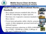 mobile source clean air rules comprehensively addressing air pollutants24