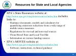 resources for state and local agencies