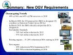 summary new ogv requirements