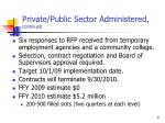 private public sector administered continued