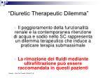 diuretic therapeutic dilemma