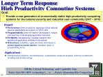 longer term response high productivity computing systems