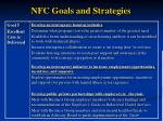 nfc goals and strategies21