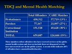 tdcj and mental health matching