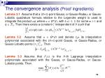 the convergence analysis proof ingredients