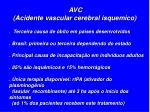 avc acidente vascular cerebral isquemico