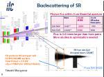 backscattering of sr