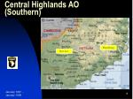 central highlands ao southern