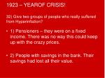 1923 yearof crisis 32 give two groups of people who really suffered from hyperinflation