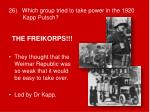26 which group tried to take power in the 1920 kapp putsch