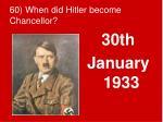 60 when did hitler become chancellor