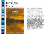 boy at war mazer