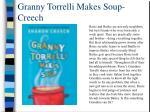 granny torrelli makes soup creech