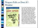 niagara falls or does it winkler