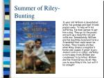summer of riley bunting